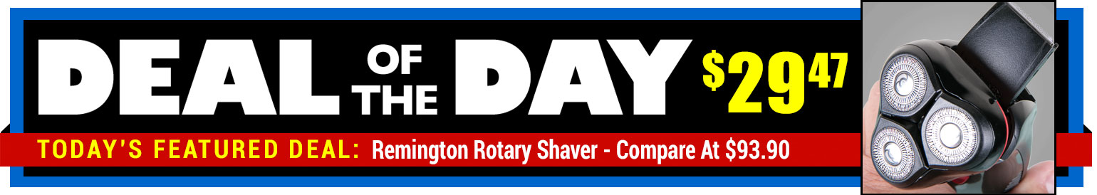 69% Off Remington PR-1340 Rotary Shaver - Compare At $93.90 - Deal of the Day $29.47