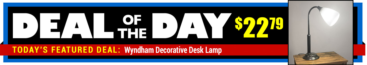 25% Off Wyndham Decorative Desk Lamp - WAS $29.99 - Deal of the Day $22.79