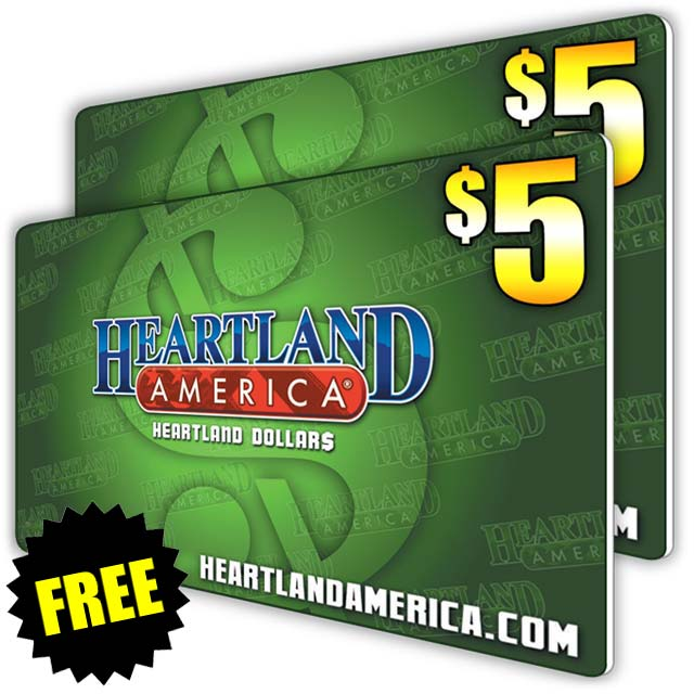 Two FREE $5 Heartland Dollars Cards